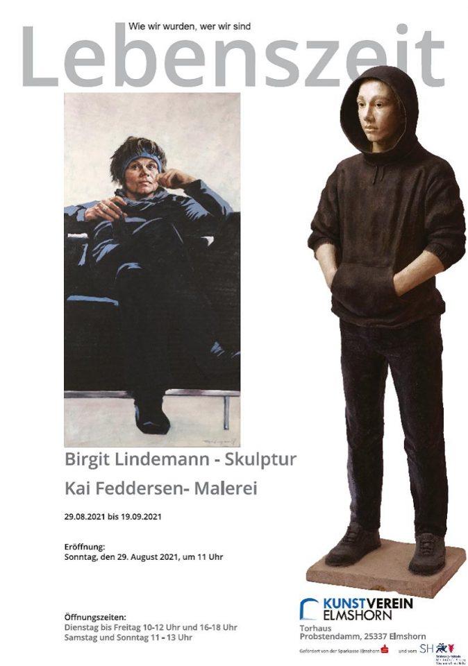Plakat zu Ausstellung Lindemann - Feddersen